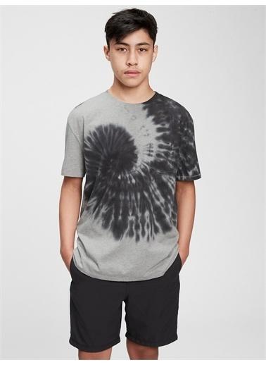 Gap Organik Pamuklu T-Shirt Gri
